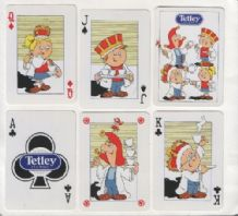 Advertising Non-standard playing cards. Tetley Tea